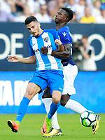 Malaga CF's Juankar Perez (l) and SS Lazio's Keita Balde Diao during XXXIII Costa del Sol Trophy. August 5,2017. (ALTERPHOTOS/Acero/Insidefoto)