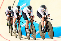 Picture by Alex Whitehead/SWpix.com - 09/12/2017 - Cycling - UCI Track Cycling World Cup Santiago - Velódromo de Peñalolén, Santiago, Chile - Germany's Lisa Kullmer, Tatjana Paller, Franziska Brausse and Laura Sussemilch compete in the Women's Team Pursuit first round