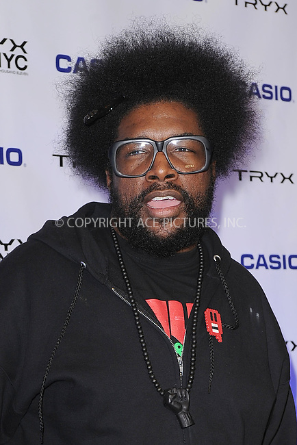 WWW.ACEPIXS.COM . . . . . .April 7, 2011...New York City...Questlove attends the CASIO Launch of Tryx Camera with Performance by Nicki Minaj Best Buy Theatre In Time Square on April 7, 2011 in New York City....Please byline: KRISTIN CALLAHAN - ACEPIXS.COM.. . . . . . ..Ace Pictures, Inc: ..tel: (212) 243 8787 or (646) 769 0430..e-mail: info@acepixs.com..web: http://www.acepixs.com .