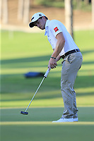 Paul Dunne (IRL) putts on the 17th green during Friday's Round 2 of the 2018 Turkish Airlines Open hosted by Regnum Carya Golf &amp; Spa Resort, Antalya, Turkey. 2nd November 2018.<br /> Picture: Eoin Clarke | Golffile<br /> <br /> <br /> All photos usage must carry mandatory copyright credit (&copy; Golffile | Eoin Clarke)