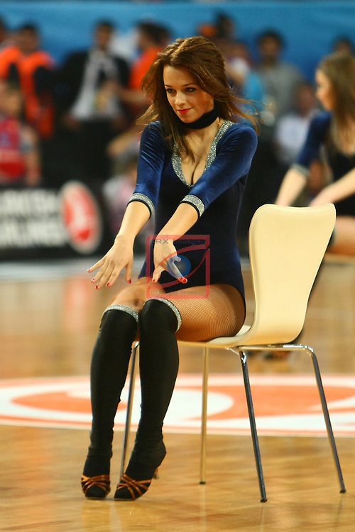 Zalguiris Cheerleaders (Cheer Up Dancers). CSKA Moscow vs Olympiacos Piraeus: 61-62 - Game Final - Final Four Istanbul 2012.