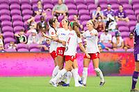 Orlando, FL - Saturday October 05, 2019: Ashley Hatch celebrates her goal , Orlando Pride vs Washington Spirit Stars at Exploria Stadium.