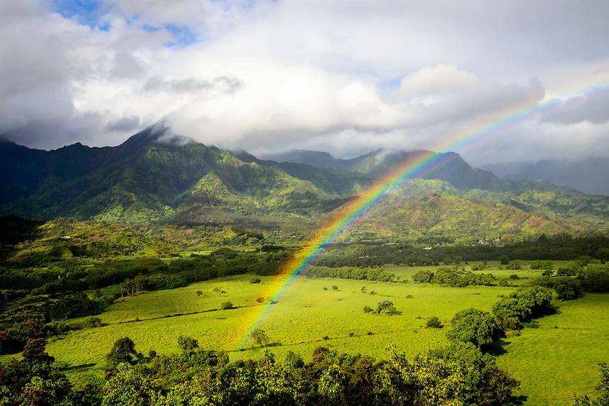 Rainbow over buffalo ranch