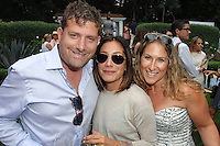 Brad Ross, Georgeann Carras, Rachel Wintner==<br /> LAXART 5th Annual Garden Party Presented by Tory Burch==<br /> Private Residence, Beverly Hills, CA==<br /> August 3, 2014==<br /> ©LAXART==<br /> Photo: DAVID CROTTY/Laxart.com==