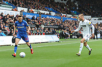 Bolton Wanderers' Craig Noone under pressure from Swansea City's Mike van der Hoorn<br /> <br /> Photographer Kevin Barnes/CameraSport<br /> <br /> The EFL Sky Bet Championship - Swansea City v Bolton Wanderers - Saturday 2nd March 2019 - Liberty Stadium - Swansea<br /> <br /> World Copyright © 2019 CameraSport. All rights reserved. 43 Linden Ave. Countesthorpe. Leicester. England. LE8 5PG - Tel: +44 (0) 116 277 4147 - admin@camerasport.com - www.camerasport.com