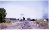A rather distant view of the D&amp;RGW Alamosa east yard looking west.<br /> D&amp;RGW  Alamosa, CO  Taken by Buvinger, John - 1956