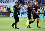 Watford Manager Marco Silva thanks the fans at the end of the premier league match at the Vicarage Road Stadium, Watford. Picture date 26th August 2017. Picture credit should read: Robin Parker/Sportimage