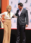 HOLLYWOOD, CA- APRIL 27: Actress Jane Fonda and son Troy Garity attend actress Jane Fonda's Handprint/Footprint Ceremony during the 2013 TCM Classic Film Festival at TCL Chinese Theatre on April 27, 2013 in Los Angeles, California.
