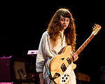 Raleigh, North Carolina- August 11, 2017<br /> <br /> Katie Crutchfield of Waxahatchee. <br /> <br /> Ex Hex and Waxahatchee played an outdoor concert with MERGE Records label mates Superchunk at the North Carolina Museum of Art. (Photo by Jeremy M. Lange for The New York Times)