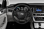 Car pictures of steering wheel view of a 2016 Hyundai Sonata Hybrid SE 4 Door Sedan Steering Wheel