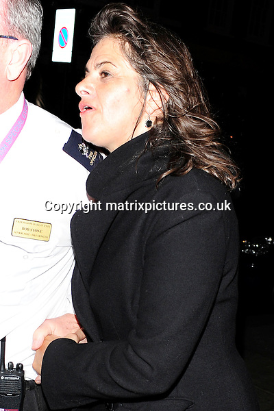 NON EXCLUSIVE PICTURE: MATRIXPICTURES.CO.UK<br /> PLEASE CREDIT ALL USES<br /> <br /> WORLD RIGHTS<br /> <br /> English artist Tracey Emin attending The BRIT Awards 2015 Warner Music Group afterparty, at The Freemasons' Hall in London. <br /> <br /> FEBRUARY 25th 2015<br /> <br /> REF: ASI 15640