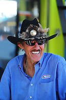 Apr 17, 2009; Avondale, AZ, USA; NASCAR Sprint Cup Series team owner Richard Petty during practice for the Subway Fresh Fit 500 at Phoenix International Raceway. Mandatory Credit: Mark J. Rebilas-