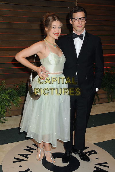 02 March 2014 - West Hollywood, California - Joanna Newsom, Andy Samberg. 2014 Vanity Fair Oscar Party following the 86th Academy Awards held at Sunset Plaza. <br /> CAP/ADM/BP<br /> &copy;Byron Purvis/AdMedia/Capital Pictures
