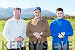 Tony Lenihan, Tomas Kelliher and Aaron Farrell at the Ross Golf club open day on Sunday