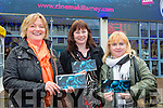 Majella Floyd, Kathleen O'Sullivan and Bridget O'Shea Portmagee with their tickets for the Premiere of the Star Wars The Force Awakens in Killarney Cinema on Thursday