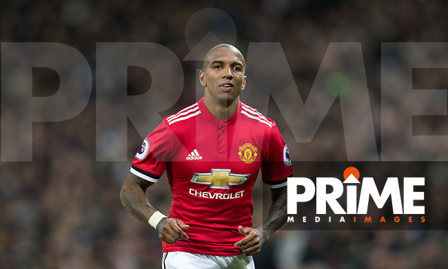 Ashley Young of Man Utd during the Premier League match between Tottenham Hotspur and Manchester United at Wembley Stadium, London, England on 31 January 2018. Photo by Andy Rowland.