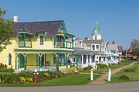 Victorian era homes on Ocean Avenue in Oak Bluffs, Massachusetts on Martha's Vineyard.