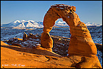 Delicate Arch, Winter<br /> Arches National Park, Utah