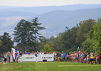 Matthew Fitzpatrick (ENG) on the 5th tee during Round 1 of the D+D Real Czech Masters at the Albatross Golf Resort, Prague, Czech Rep. 31/08/2017<br /> Picture: Golffile | Thos Caffrey<br /> <br /> <br /> All photo usage must carry mandatory copyright credit     (&copy; Golffile | Thos Caffrey)