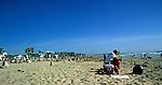 Crowded beach on a public holiday, San Diego, California, USA