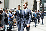 Real Madrid's Raphael Varane and Sergio Ramos arrives to Crystal Gallery of the Palacio de Cibeles in Madrid, May 22, 2017. Spain.<br /> (ALTERPHOTOS/BorjaB.Hojas)