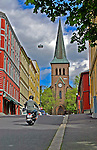 Kampen church one spring day in Oslo, capitol of Norway