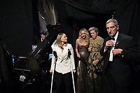 Jodi Foster and Jennifer Lawrence congratulate Frances McDormand, Oscar&reg; winner for best actress in a leading role to for work on &quot;Three Billboards Outside Ebbing, Missouri&quot; backstage during the live ABC Telecast of The 90th Oscars&reg; at the Dolby&reg; Theatre in Hollywood, CA on Sunday, March 4, 2018.<br /> *Editorial Use Only*<br /> CAP/PLF/AMPAS<br /> Supplied by Capital Pictures