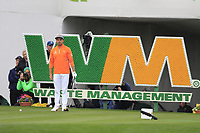 Rickie Fowler (USA) on the 17th tee during the final round of the Waste Management Phoenix Open, TPC Scottsdale, Scottsdale, Arisona, USA. 03/02/2019.<br /> Picture Fran Caffrey / Golffile.ie<br /> <br /> All photo usage must carry mandatory copyright credit (&copy; Golffile | Fran Caffrey)