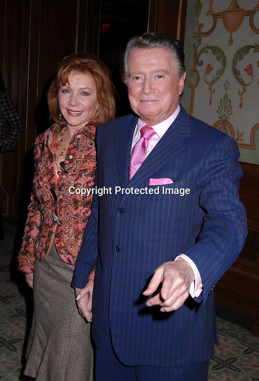 Joy Philbin and Regis Philbin ..at The 18th Annual PAL  Women of the Year Luncheon  ..on October 17, 2006 at The Pierre Hotel. ..The honorees were Claudia Cohen, Pamela Thomas-Graham, Diana L Taylor and Melania Trump...Robin Platzer, Twin Images