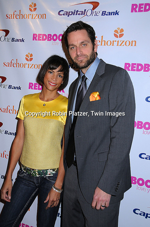 Veronica Webb and Peter Hermann.at a cocktail party hosted by REDBOOK magazine .for Safe Horizon celebrating the Champions for Children.program on March 18, 2008 at The Hearst Tower. .Robin Platzer, Twin Images