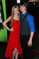 "LOS ANGELES, CA - FEBRUARY 04: Katherine McNamara, Joel Courtney at the Los Angeles Premiere Of The Weinstein Company's ""Vampire Academy"" held at Regal Cinemas L.A. Live on February 4, 2014 in Los Angeles, California. (Photo by Xavier Collin/Celebrity Monitor)"