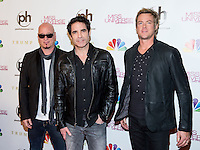 LAS VEGAS, NV - December 19 : Jimmy Stafford, Pat Monahan and Scott Underwood of TRAIN pictured arriving at Miss Universe 2012 finals at Planet Hollywod Resort on December 19, 2012 in Las Vegas, Nevada. Credit: Kabik/Starlitepics/MediaPunch Inc. /NortePhoto