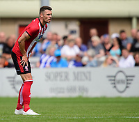 Lincoln City's Jason Shackell<br /> <br /> Photographer Chris Vaughan/CameraSport<br /> <br /> Football Pre-Season Friendly - Lincoln City v Sheffield Wednesday - Saturday July 13th 2019 - Sincil Bank - Lincoln<br /> <br /> World Copyright © 2019 CameraSport. All rights reserved. 43 Linden Ave. Countesthorpe. Leicester. England. LE8 5PG - Tel: +44 (0) 116 277 4147 - admin@camerasport.com - www.camerasport.com