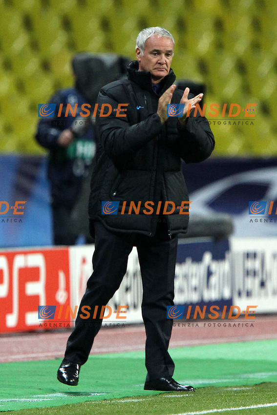 "Claudio Ranieri Inter.Mosca 27/9/2011 Stadio ""Luzhniki"".Football / Calcio Champions League 2011/2012.CSKA Moscow vs Inter.Foto Paolo Nucci Insidefoto"