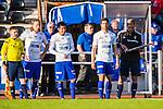 Uppsala 2014-06-26 Fotboll Superettan IK Sirius - IFK V&auml;rnamo :  <br /> V&auml;rnamos Carlos Gaete Moggia byts in i den andra halvleken tillsammans med lagkamraterna Alexander Vrebac och David Bj&ouml;rkeryd <br /> (Foto: Kenta J&ouml;nsson) Nyckelord:  Superettan Sirius IKS Studenternas IFK V&auml;rnamo
