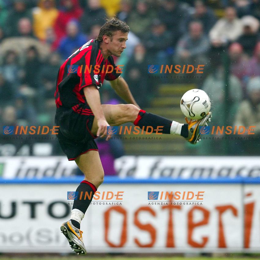 Siena 17/4/2004 Campionato Italiano Serie A <br /> 30a Giornata - Matchday 30 <br /> Siena Milan 1-2 <br /> Andriy Shevchenko (Milan)<br />  Foto Insidefoto
