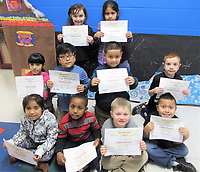 Photo Submitted Noel Primary is excited to announce the Academic Accolades for the week of Feb. 4, and students are: (first, left), Mia Garcia, Lyman Hassan, James Graham and Isidro Quetzecua; (middle, left), Natalie Rodriquez, Bryan Mendoza-Rodriquez, Junior Urbina-Masauo and Lucas Peck; (back, left), Jheylie Stauber and Wendy Maldsnado-Reza.