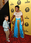 Heather Headley and son<br />  attends the 20th Anniversary Performance of 'The Lion King' on Broadway at The Minskoff Theatre on November 5, 2017 in New York City.