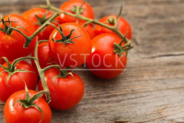 Vine of cherry tomatoes