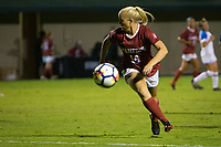 STANFORD, CA - September 27, 2018: Civana Kuhlmann at Stanford Stadium. The Stanford Cardinal defeated the UCLA Bruins, 3-2.