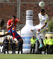 IPIALES-COLOMBIA ,17-04-2019.Acción de juego entre los equipos  Deportivo Pasto y Alianza Petrolera  durante partido por la fecha 16 de la Liga Águila I 2019 jugado en el estadio Municipal de Ipiales./ Action game between Deportivo Pasto and Alianza Petrolera   during the match for the date 16 of the Aguila League I 2019 played at Municipal stadium in Ipiales city. Photo: VizzorImage/ Leonardo Castro / Contribuidor