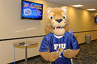 12 August 2011:  FIU's mascot, Roary, prior to the FIU 2011 Panther Preview at University Park Stadium in Miami, Florida.