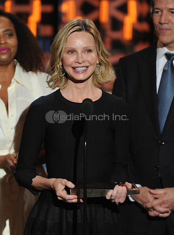 BEVERLY HILLS, CA - APRIL 11: Calista Flockhart appears on the 2015 TV Land Awards at the Saban Theater on April 11, 2015 in Beverly Hills, California. FMPG/MediaPunch