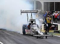 May 17, 2015; Commerce, GA, USA; NHRA top fuel driver Larry Dixon during the Southern Nationals at Atlanta Dragway. Mandatory Credit: Mark J. Rebilas-USA TODAY Sports