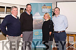 The launch of Ride Dingle. From left: members of the Dingle Cycling Club Tommy Long, Cian Higgins and Breege Granville with Oliver Kirwan (Elite Events) at the Benners Hotel on Thursday evening.