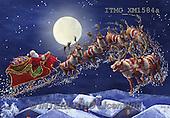 Marcello, CHRISTMAS SANTA, SNOWMAN, WEIHNACHTSMÄNNER, SCHNEEMÄNNER, PAPÁ NOEL, MUÑECOS DE NIEVE, paintings+++++,ITMCXM1584A,#X# ,sledges
