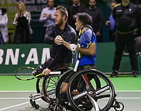 Rotterdam, The Netherlands, 14 Februari 2019, ABNAMRO World Tennis Tournament, Ahoy, Wheelchair, doubles, Stephane Houdet (FRA) Nicolas Peifer (FRA) (L),<br /> Photo: www.tennisimages.com/Henk Koster