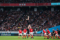 1st November 2019, Tokyo, Japan;  New Zealand win the line-out ball;  2019 Rugby World Cup 3rd place match between New Zealand 40-17 Wales at Tokyo Stadium in Tokyo, Japan.  - Editorial Use