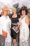 Melissa Perry, Elaine Kelliher and Joanne O'Regan Killarney pictured at Killarney Races Ladies day on Thursday.