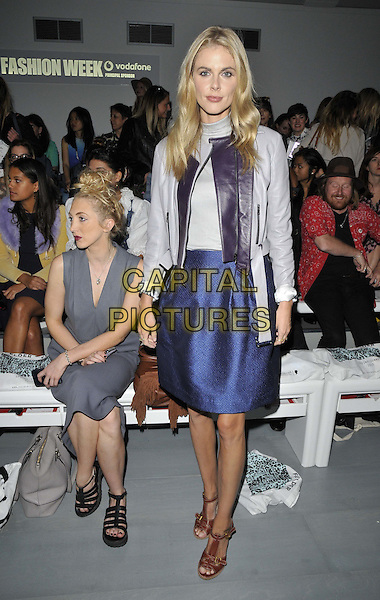 LONDON, ENGLAND - SEPTEMBER 12: Donna Air attends the Felder Felder S/S15 catwalk show, LFW Day 1, BFC Showspace, Somerset House  the Strand, on Friday September 12, 2014 in London, England, UK. <br /> CAP/CAN<br /> &copy;Can Nguyen/Capital Pictures